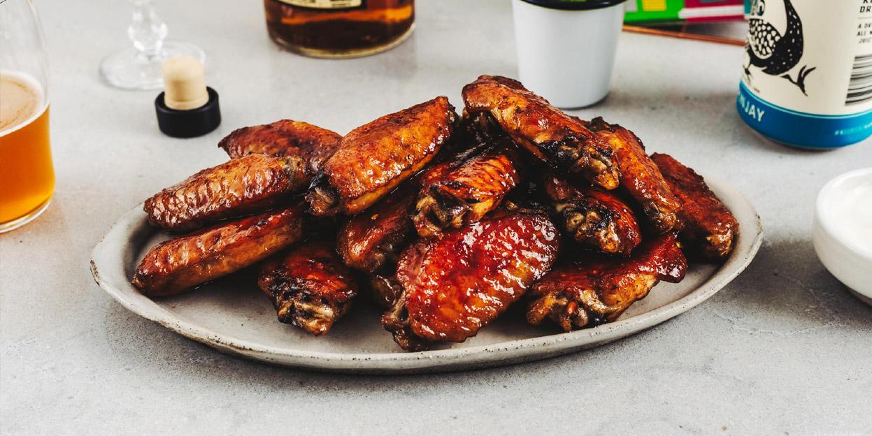 Bourbon Honey Char Siu Wings Recipe